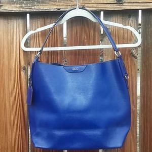 Ralph Lauren dark blue leather shoulder bag